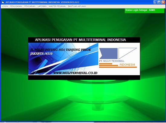 aplikasi ini dibuat untuk PT Multiterminal Indonesia di Jakarta Utara
